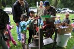 Young attendees at the festival helped press cider.