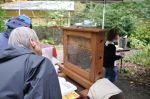 Puget Sound Beekeepers Association brought a hive with live bees (that thankfully couldn't escape!).