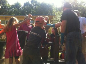 Everyone got into the act with Will Murray's mechanical cider press